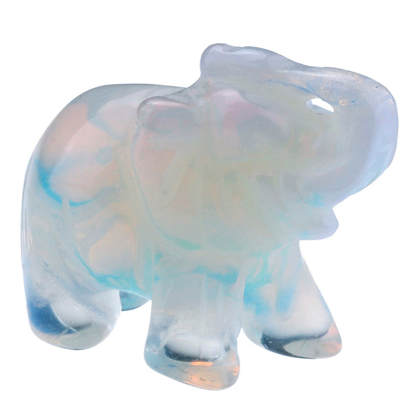 jovivi 1pc crystal carved gemstone elephant home decoration figurine 1.5