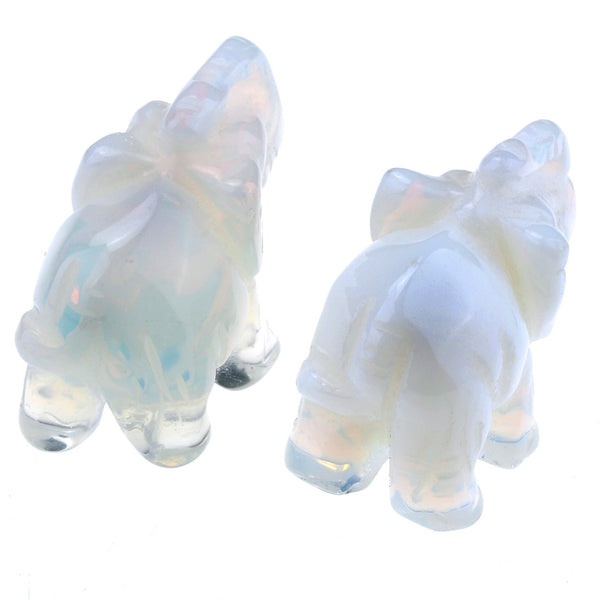 jovivi 2pcs opalite craved elephant statue, backside, asd00040