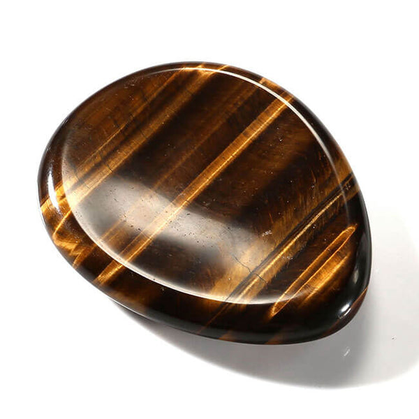 Jovivi natural tiger eye plam stone