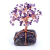 Jovivi Natural Amethyst Tumbled Stones Feng Shui Money Tree