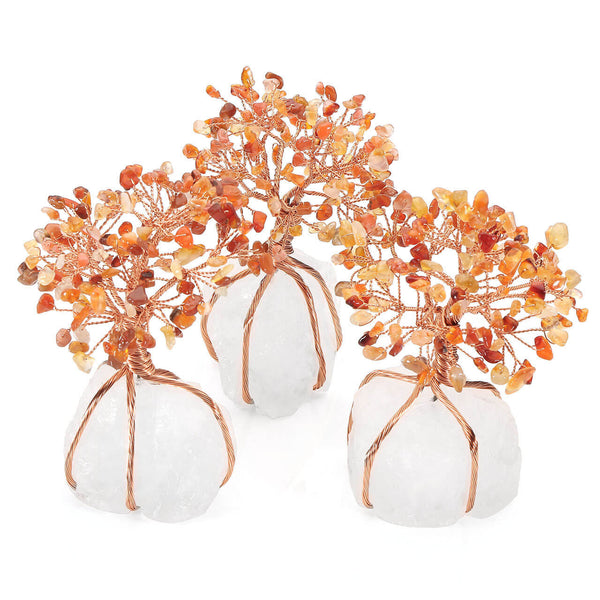 Jovivi Natural Red Agate Tree Crystal Quartz Tree Feng Shui Tree of Life Ornament Reiki Crystals