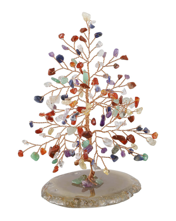 jovivi 7 chakras healing crystal copper wrapped money tree for home decor
