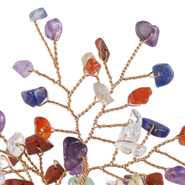 jovivi 7 chakras chip healing crystal home decor fengshui money tree statue