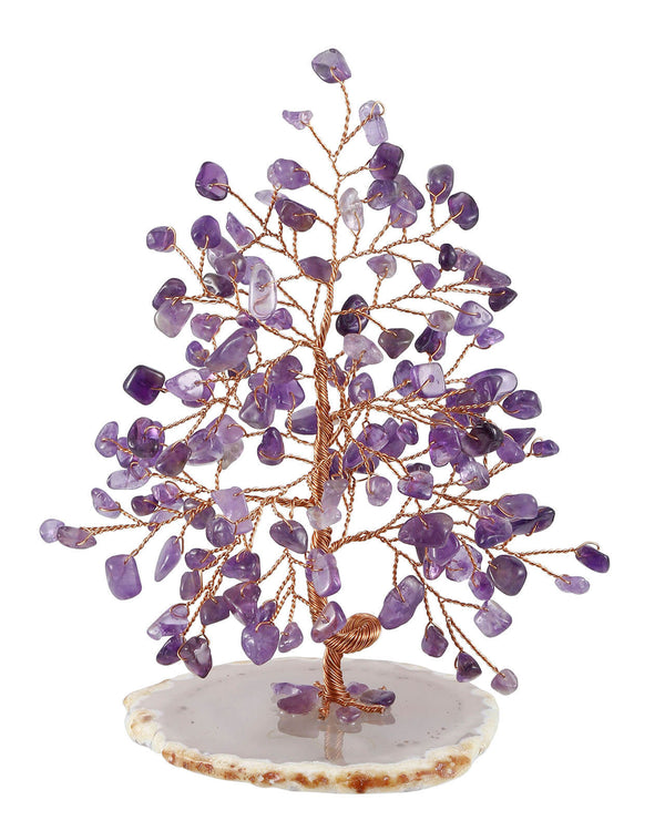 Jovivi natural amethyst money tree fengshui home decoration reiki healing gemstone figurine