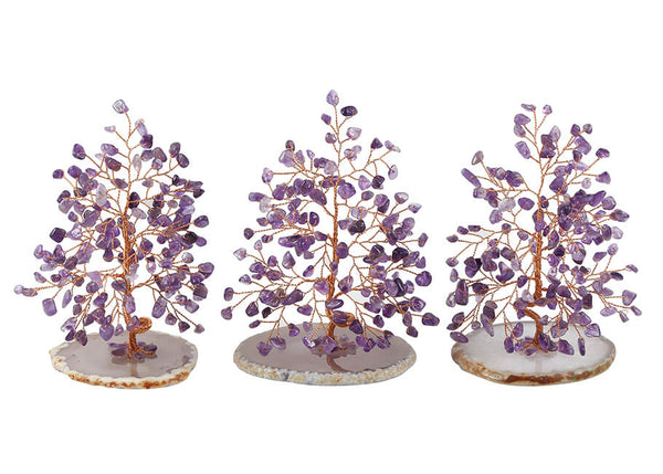 jovivi natural amethyst chakras gemstone home decor money tree fengshui figurine luck