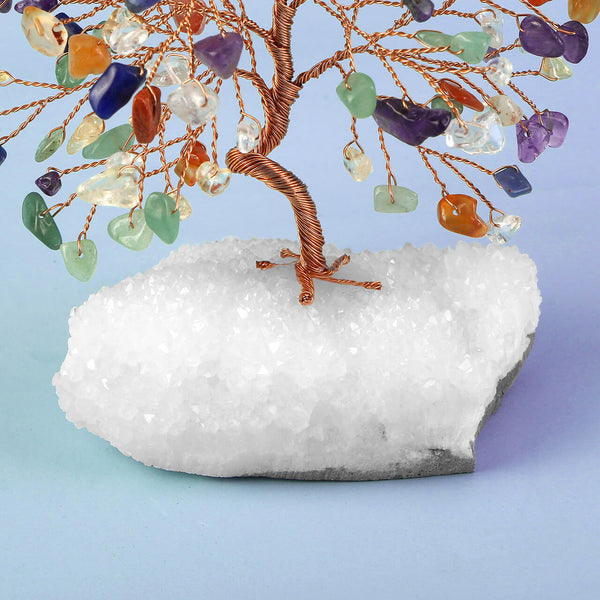 asd036501 jovivi  7 chakras money tree reiki healing crystal gemstone home decoration