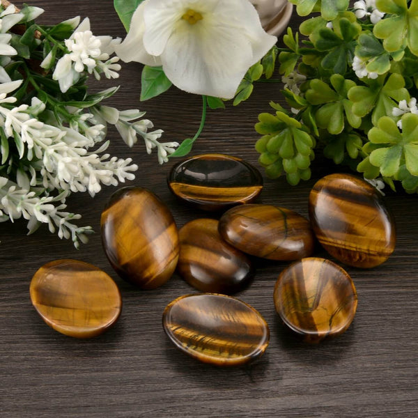Jovivi Natural Thumb Worry Stone Pocket Palm Stones Crystal Healing Reiki Stress Relief, 4 Packs
