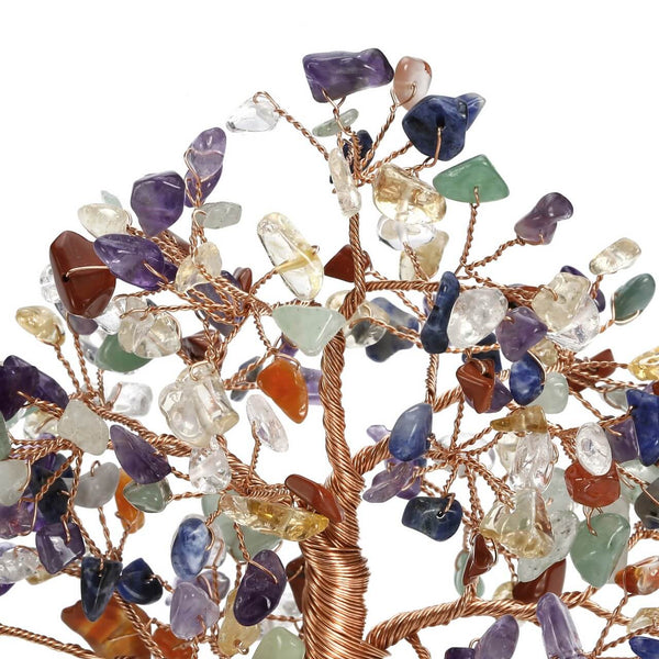 asd039501 jovivi 7 chakras gemstone tree for wealth and luck tree of life ornament decoration