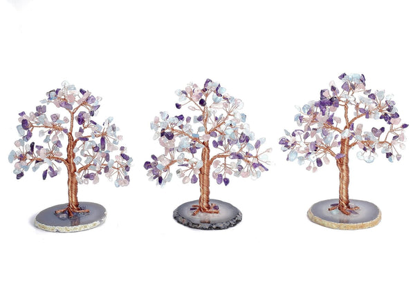 asd039503 jovivi rose quartz chip stone tree energy chakras home decoration