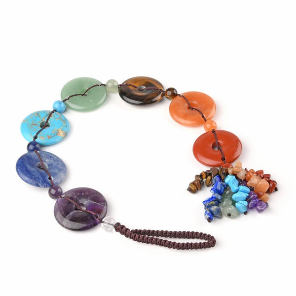 jovivi 7 chakras gemstones reiki healing hanging ornament for meditation