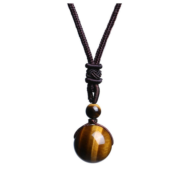 Jovivi natural yellow tiger eye beaded necklace