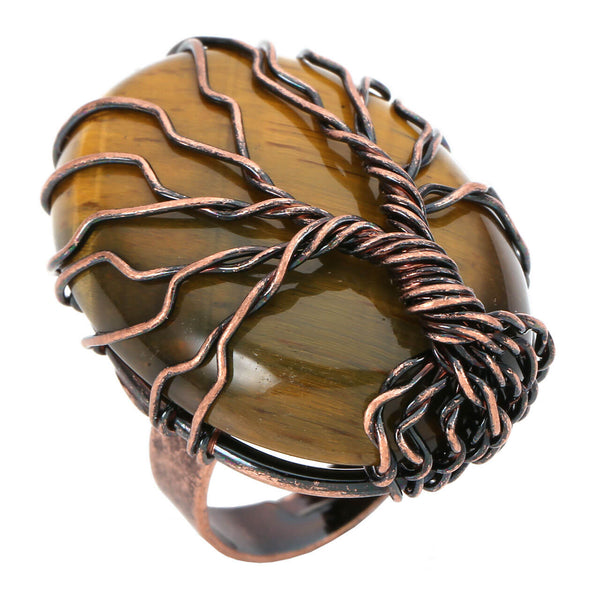 jkr012404 jovivi tiger eye gemstone ring for women healing reiki healing