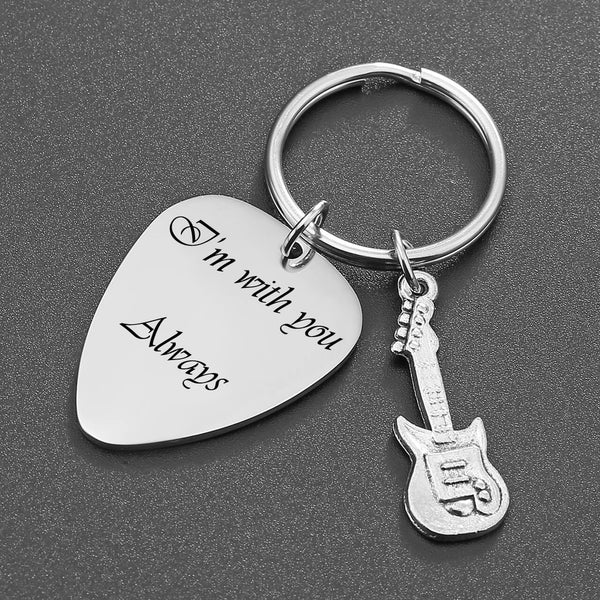 jnf001802 jovivi personalized customize guitar pick name tag keychain set for guitar lovers