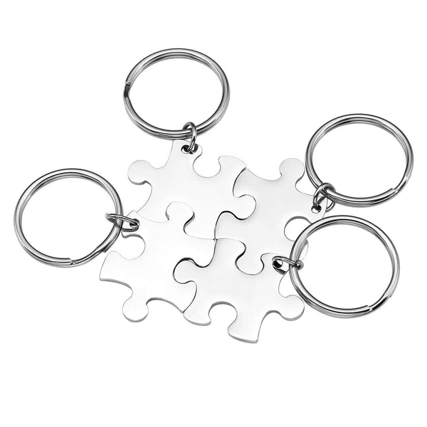 jovivi 4pieces customize puzzle keychain