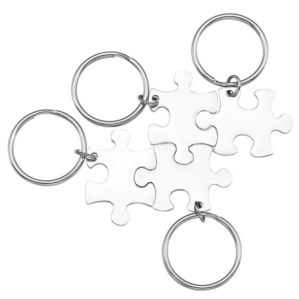 Personalized Custom Jigsaw Puzzle Keychains Set for Best Friends