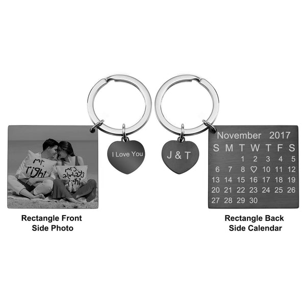 Jovivi photo engraved dog tag keychain Christams gift