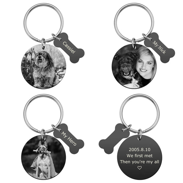 jnf002902 jovivi personalized photo tag keychain calendar key ring for mother's day gift