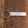 Jovivi Personalized Customize Rectangle Vertical Bar Pendant Keychain