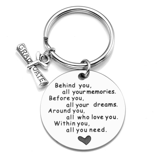 jnf008501 jovivi personalized custom graduate keychain gift for students