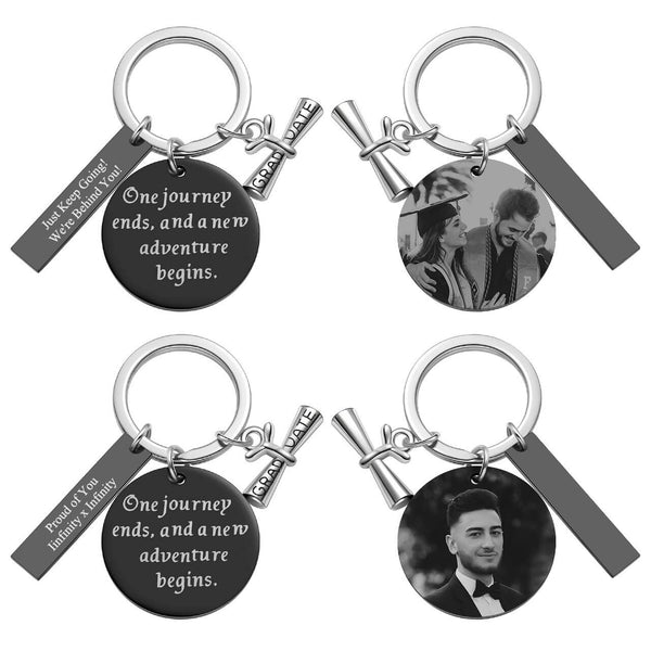 Jovivi Customize Photo Graduation Keychain Gift Diploma Charm Inspirational Keyring