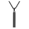 Jovivi Personalized Name Bar Necklace - Vertical Pendant Words Message Jewelry
