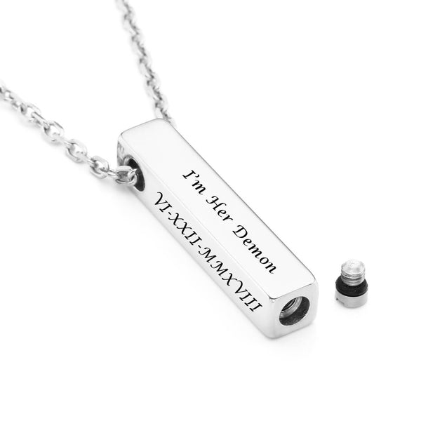 jovivi personalized customized cremation pendant for ashes urn necklace, jng049301