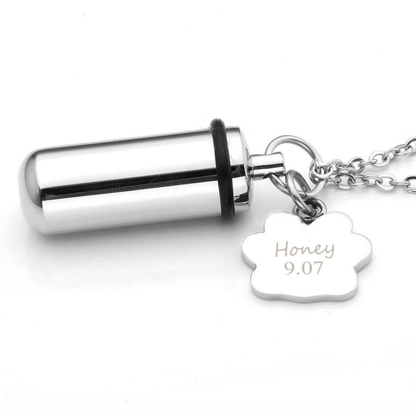 jovivi personalized dog pet ashes urn necklace memorial cremation jewelry