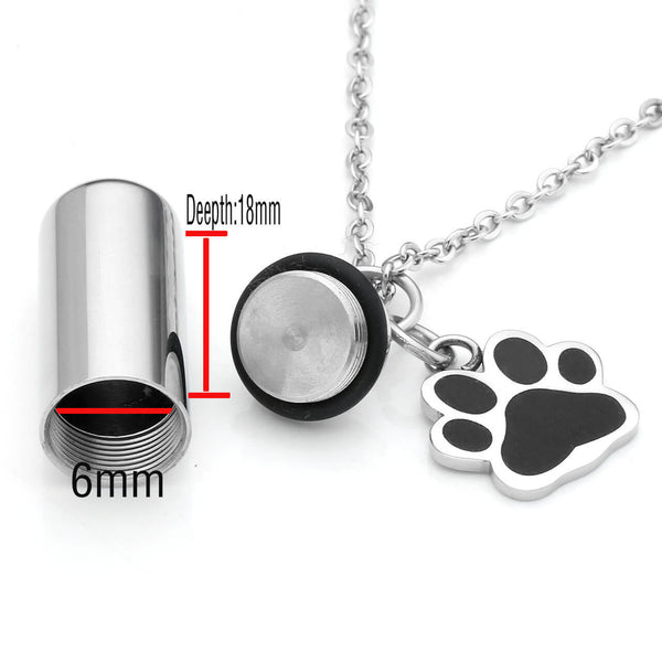 jovivi dog memorial gifts customize pet urn necklace
