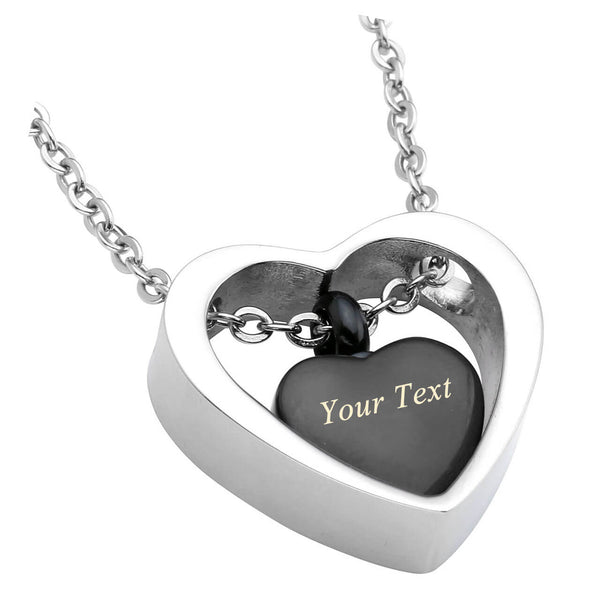 jovivi cremation urn pendant necklaces for ashes, double heart locket pendant, jng050101