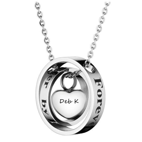 Jovivi personalized heart pendant urn necklace for ashes