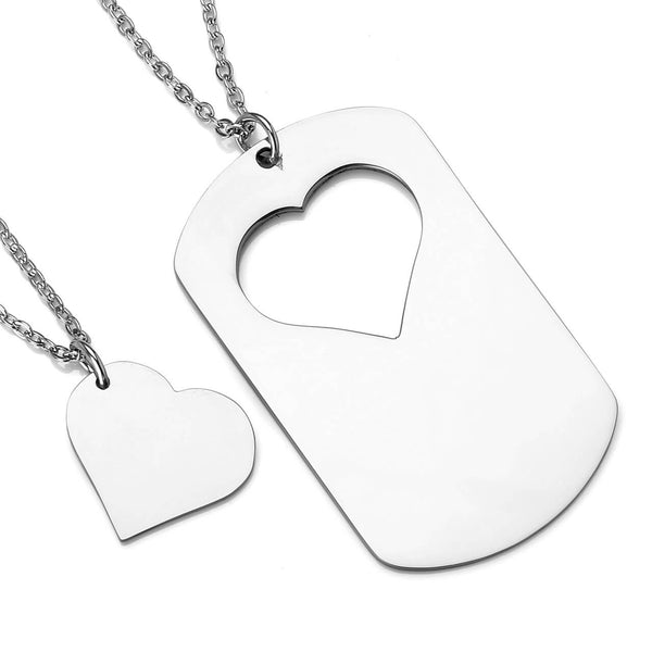 jovivi couples valentience's day gift puzzle matching necklaces, jng055301