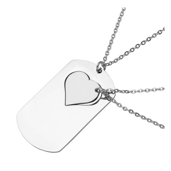 jovivi customize dog tag puzzle pendant necklace for women
