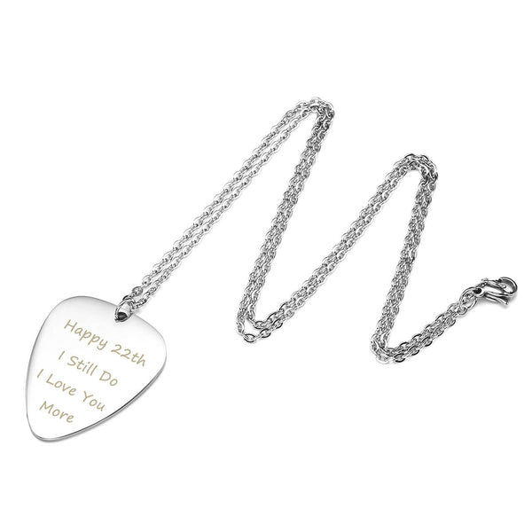 jovivi personalized guitar pick name tag necklace for him