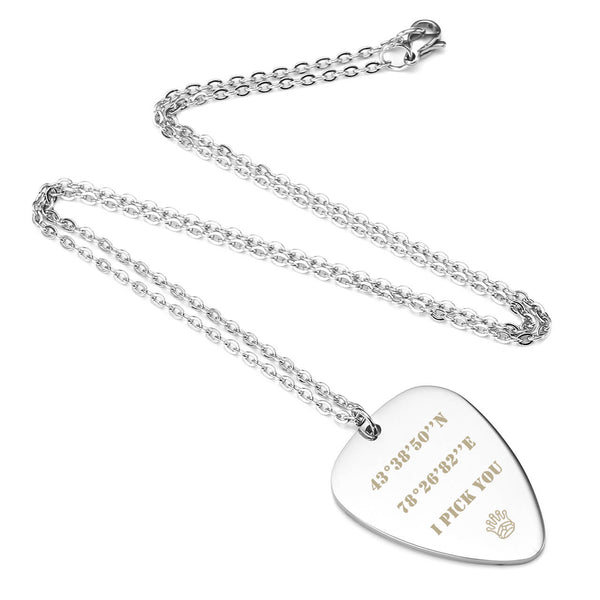 jovivi customized guitar pick necklace for her