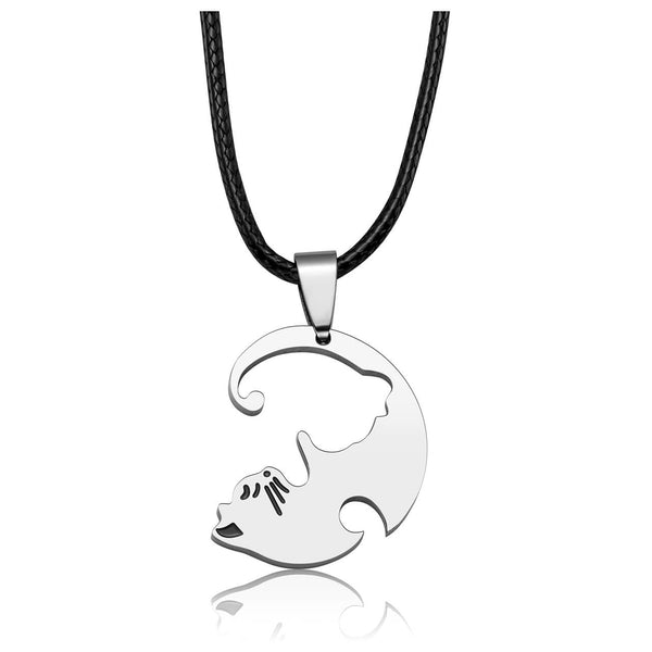 jovivi white cat personalized name tag necklace matching puzzle necklace for couplesvalentine's day gift