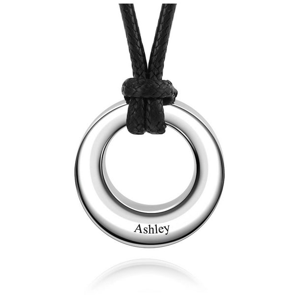 Jovivi personalized silver circle urn pendant necklace for ashes memorial keepsake jewelry