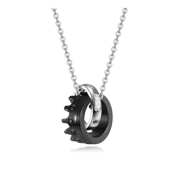 jng073301 jovivi personalized stainless steel couples matching necklaces his hers necklace