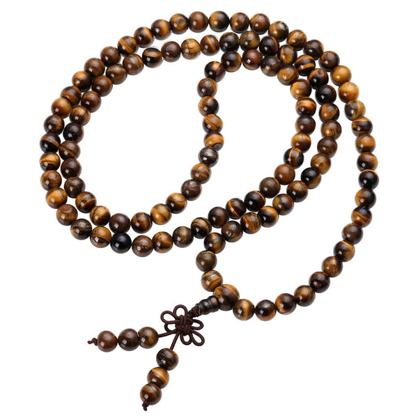 Jovivi 108 Tibetan Buddhist Mala Bracelet Necklace Prayer Beaded for yoga Meditation, jnw001001, front side