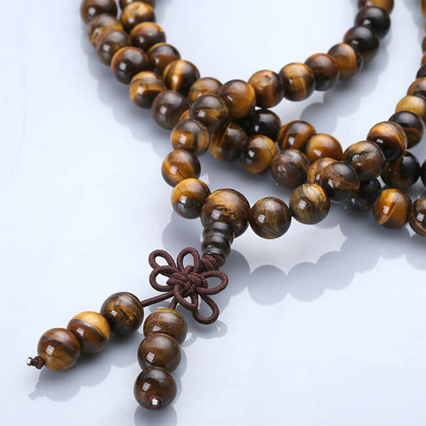 Jovivi 108 Tibetan Buddhist Mala Bracelet Necklace Natural Wood Prayer Beaded necklace with Chinese Knot for yoga Meditation, jnw001001