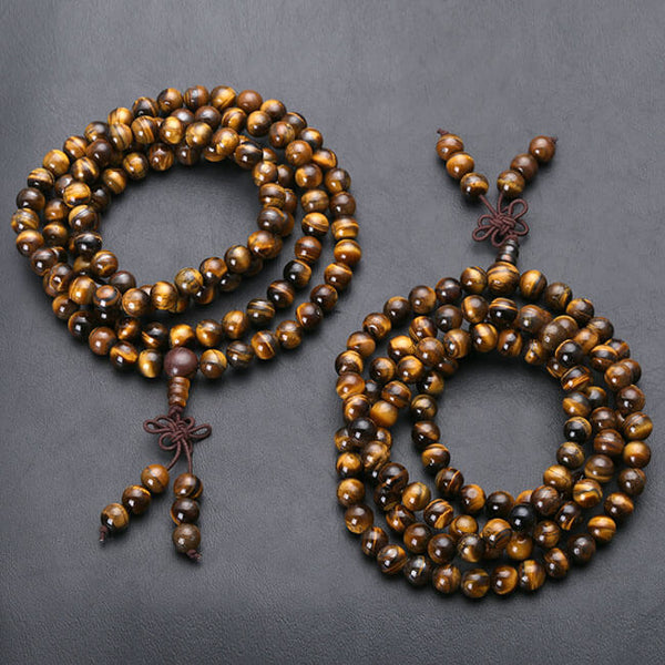 Jovivi 108 Tibetan Buddhist Mala Bracelet Necklace Natural Wood Prayer Bead for yoga Meditation