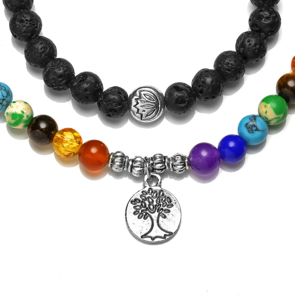 jovivi lava rock bracelet with tree of life pendant, jnw004901