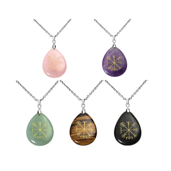 jovivi 5pcs viking compass pendant necklace