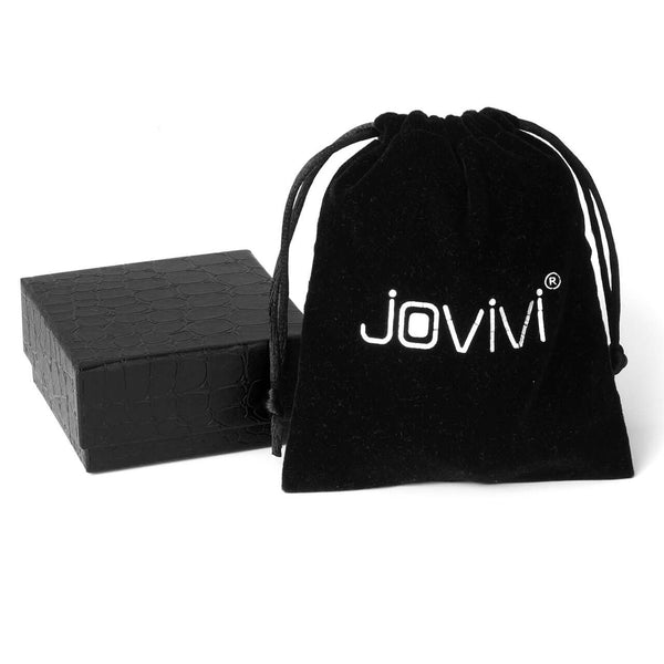 Jovivi 35mm Natural Amethyst Gemstone with Acrylic Stand, gift box