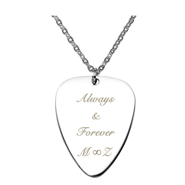 Jovivi personalized guitar pick necklace customize name tag necklace