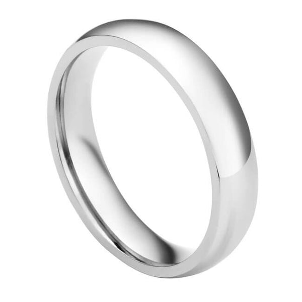 4mm Customize Initial Ring for Couples Polished Classic Wedding Band Rings
