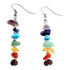 Jovivi 7 Chakras Earrings Crystal Gemstone Hook Earrings for women