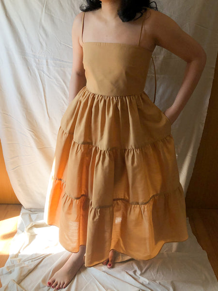 Camel Tiered Dress