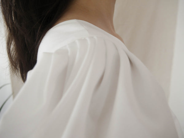 White One Shoulder Puff Sleeve Top