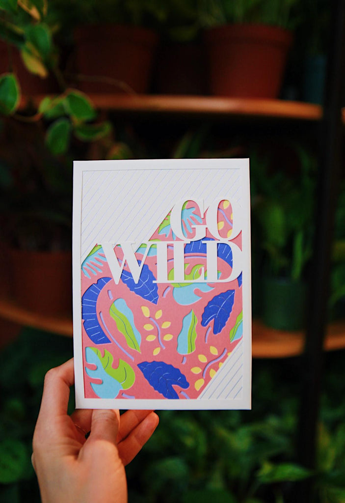 Go Wild Pop Up Card