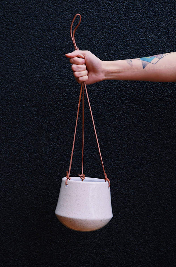 Cream Hanging Planter